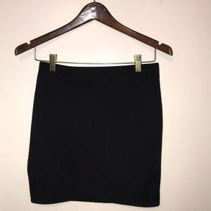 H & M black bodycon skirt